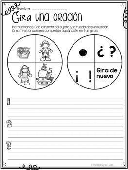 Halloween Word Work {SPANISH}
