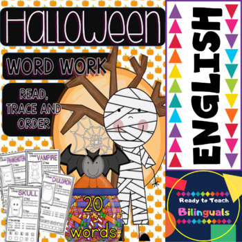 Halloween Word Work Set for Little Kids (Printables)