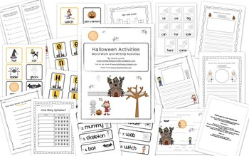 Halloween Word Work and Writing