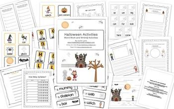 Halloween Word Work and Writing