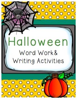 Halloween Word Work and Writing Activities
