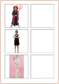 Halloween Word to Picture Matching Activity, Speech Therapy, Special Ed, Autism
