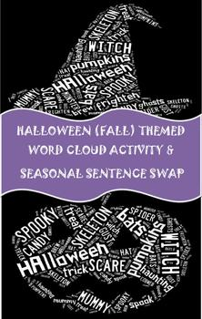 6 Traits Halloween Word Cloud Activity, Parts of Speech Review & Activity