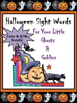 Halloween Activities: Halloween Words Flashcard Set
