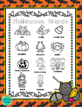 Halloween Word Wall for Daily 5 Writing Portfolios / Journals /  Writing Center