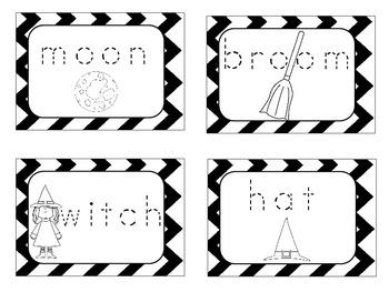 Halloween Words Cards