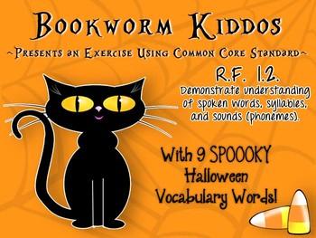 Halloween Words Common Core RF 1.2
