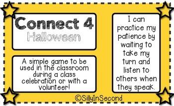 Halloween Words - Connect 4