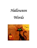 Halloween Words Folder