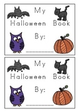 Halloween Words & Pictures Tracing Writing Book K-1 For Kids To Make
