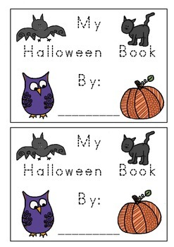 Halloween Words & Pictures Tracing Writing Book K-1 For Ki