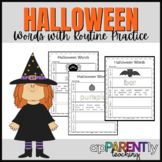 Halloween Words Routine/Morning Work- Sight Words