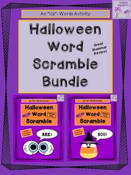 Halloween Word Scramble Activities BUNDLE