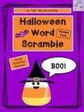 Halloween Word Scramble Activity (Version Two)