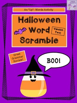 Halloween Word Scramble Activity (Version Two)