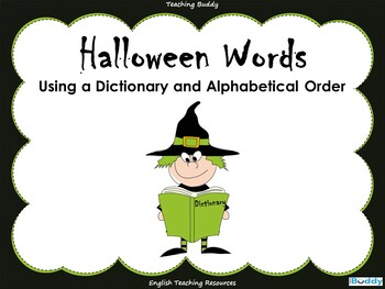 Halloween Words – Using a Dictionary