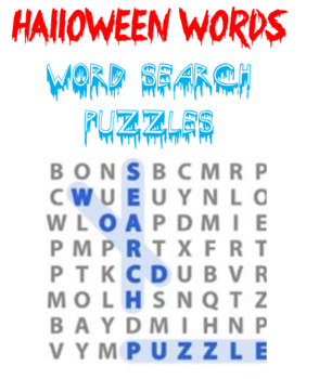 Halloween Words Word Search Puzzles