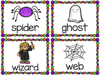 Halloween Words Write-Around-the-Room Activity