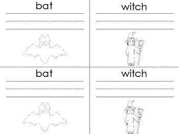 Halloween Words Writing Booklet
