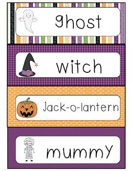Halloween Words Writing Center