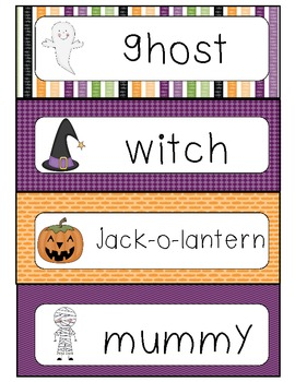 Halloween Words Writing Center
