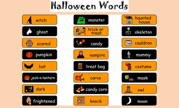 Halloween Words for Word Wall