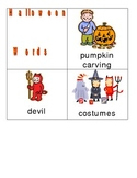 Halloween Words for Writing Center and Vocabulary