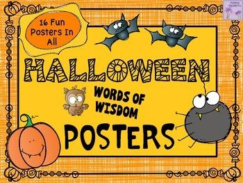 """Halloween """"Words of Wisdom"""" Posters"""