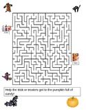 Halloween Wordsearch and Maze fun Halloween Fall activity