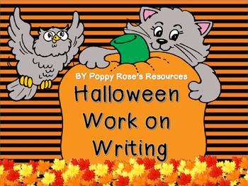 Halloween Work on Writing