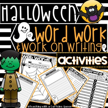 Halloween Work on Writing and Word Work Activities DAILY 5- NO PREP!