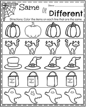 Halloween Worksheet