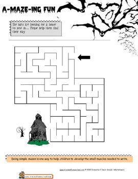 Halloween Worksheet Bundle, Grade 1