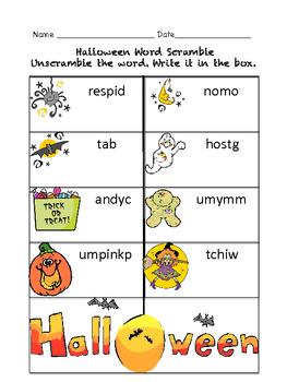 Halloween Worksheet Fun Printables