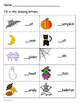 Halloween Worksheet - Missing Beginning Sounds
