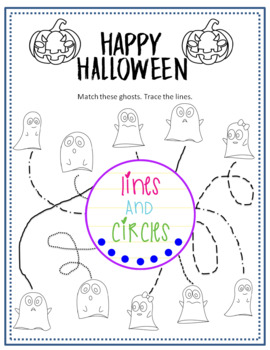 Halloween Worksheet- Tracing Lines