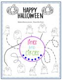 Halloween Worksheet- Tracing Lines
