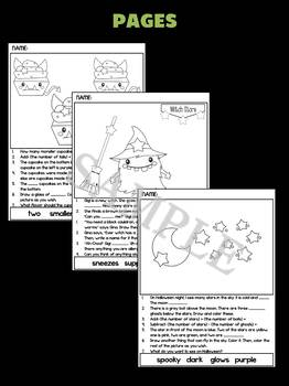 Halloween 2: Activities Mix of Literacy, Math, Think, Follow Directions