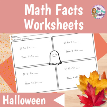 Math Facts Differentiated Worksheets Halloween