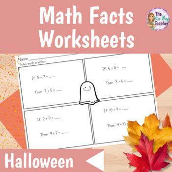 Halloween Math Worksheets First Grade by First Grade First | TpT