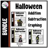 Halloween Worksheets (Bar Graphing, Addition, Subtraction) Bundle
