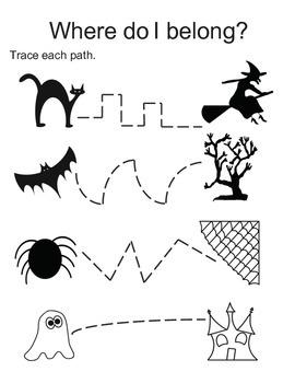 Halloween Worksheets * Booklet * Kindergarten