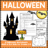 Halloween Worksheets Grades 3-5