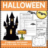 Halloween Worksheets Grades 3-5