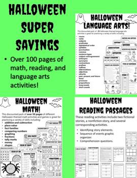 Halloween Worksheets Halloween Language Arts Activities Halloween Math Worksheet