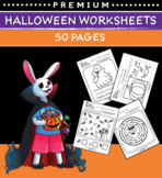 Halloween Worksheets for Preschool (50 Pages)
