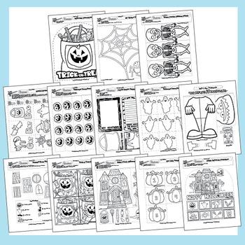 Halloween Worksheets - 37 Pack