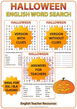 Halloween Worksheets in English - Activities for Fast Finishers