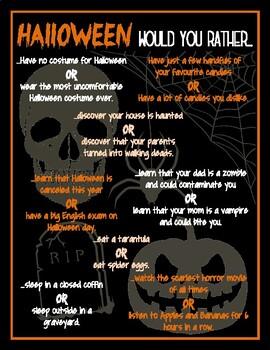 Halloween Would You Rather IESL-ESL-EFL
