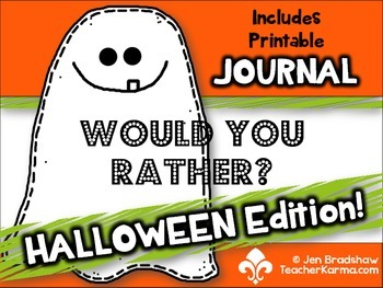 Halloween Would You Rather, Writing Prompts & Journal